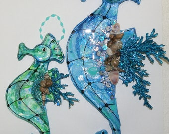 Handmade Small or Large Seahorse