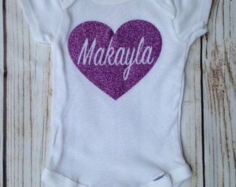 Personalized Heart Onsie/Baby Shower Gifts