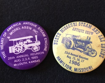 Vintage Steam Engine Show Buttons