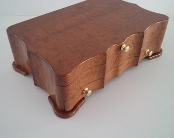 Roasted bird's eye maple box