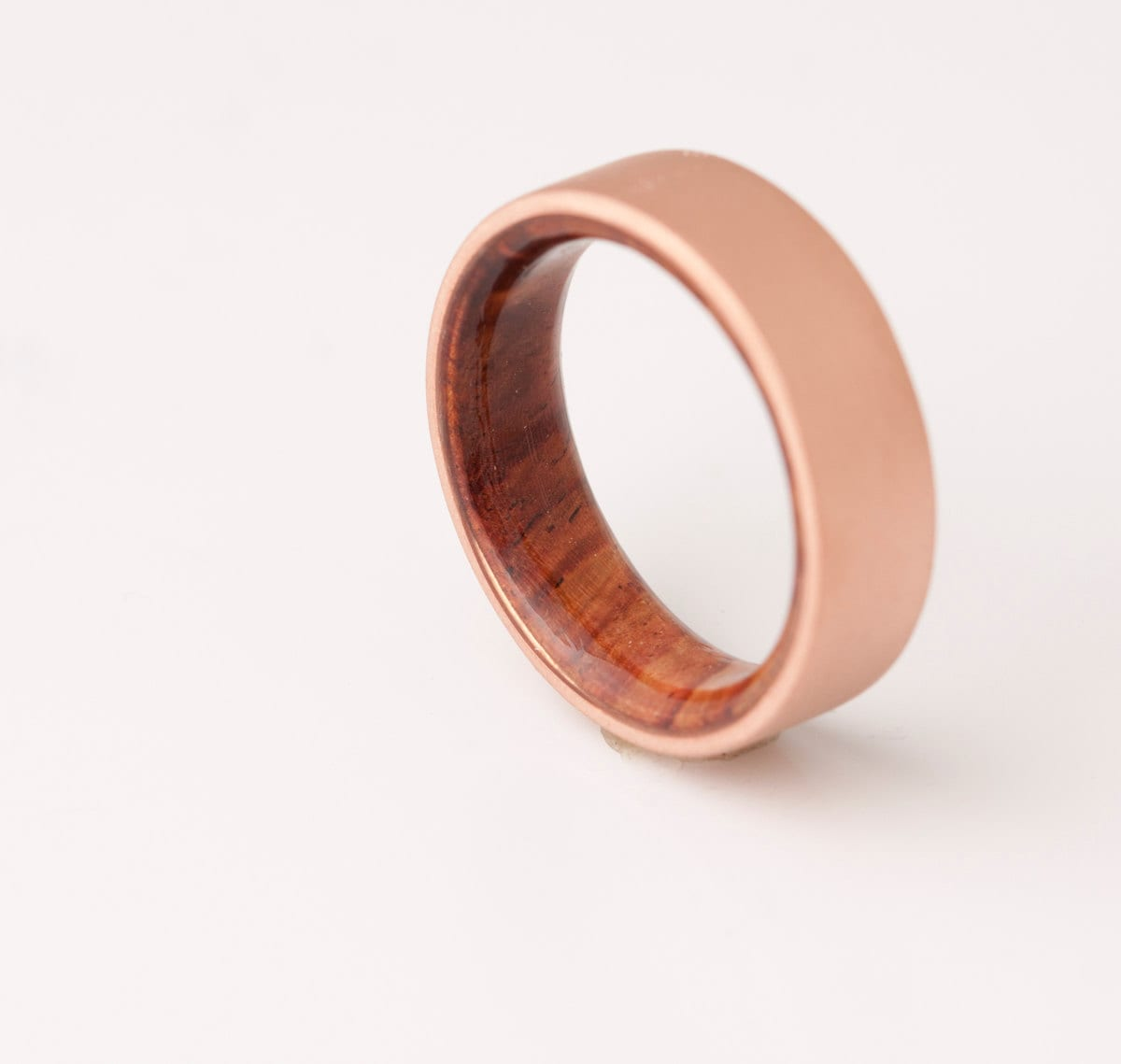 Copper Wedding Band // Copper Wood Ring // Cocobolo Ring