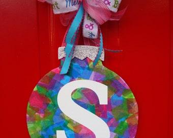 Christmas Ornament; Christmas Decoration; Christmas Door Hanger; Holiday Decor; Door Hanger; Christmas Gift Idea; Pink Christmas
