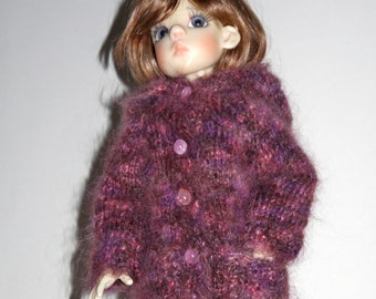 SALE Hand Knitted hooded jacket for Kaye Wiggs MSD