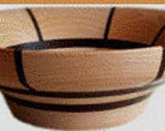 Wenge & Beech segmented wooden bowl - Made in the UK