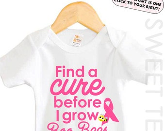 Find a Cure Shirt Breast Cancer Awareness Shirt Baby Bodysuit