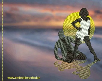 Passionate Samba dance embroidery design - downloadable - 3 sizes