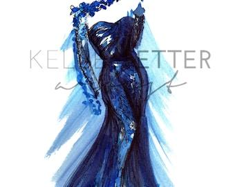 Fashion Illustration- Petal Gown