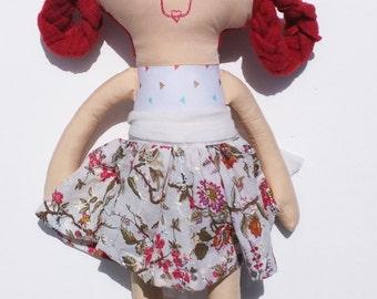 One of a Kind, Handmade, Cloth Doll