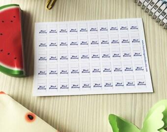 Wash Bedding Planner Stickers