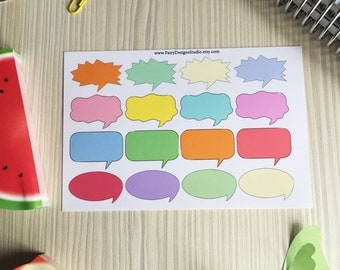 Talk Bubbles Planner Stickers
