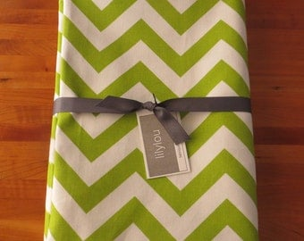 Lime Chevron Tablecloth 54x108