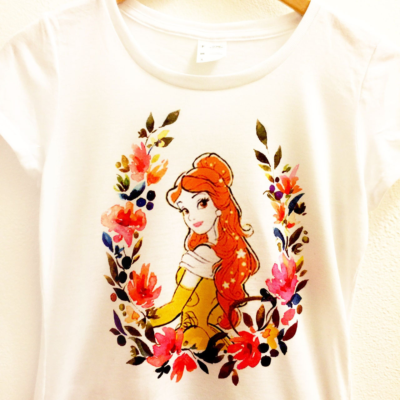 Belle Floral Shirt Beauty And The Beast Flower Romantic