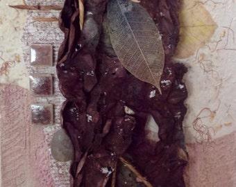 """10 X 20 mixed media fine art- """"Sediment"""""""