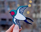Cute Swallow Patch - Sailor's Good luck Charm