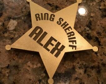 Ring Bearer Ring Sheriff Badge