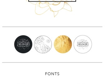 Florist Branding package | Branding kit | Marketing templates | Logo Design