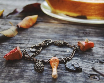 Thanksgiving Dinner Charm Bracelet