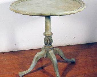 Painted Pedastal Table