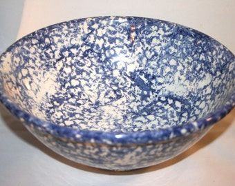 Blue Sponged Bowl//By Jay Willfred Div Of Andrea By Sadek//Made In Italy//Vintage Blue Bowl