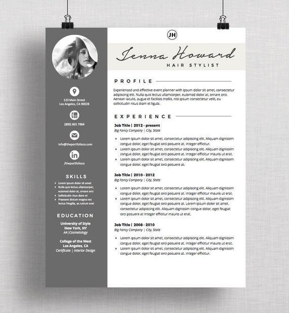 resume cv template and cover letter creative resume designs mac