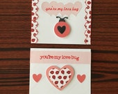 you're my love bug - handmade punny card