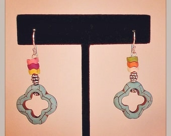 Colorful Howlite Earrings