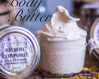 Beurre Corporel Lavande // Lavender Body Butter // Whipped body Butter // Creamy // Delicious // Moisterizing // Hydratant corps