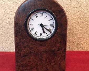 Walnut Burl Vaneer Clock