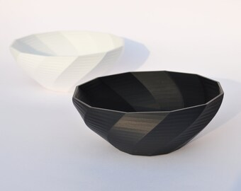 3D Printed Serving Bowl // Modern Bowl // Housewarming Gift // Popcorn Bowl // Serving Dish // Creative Bowl