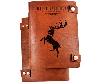 House baratheon notebook - Ours is the Fury - House baratheon journal - Game of thrones journal - Game of thrones notebook