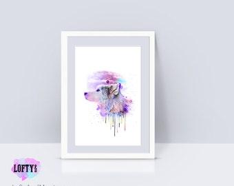 wolf print, Wolf art, wolf decor, dog art print, nursery animal prints, wolf poster, art prints, moon print, Kids Printable, poster of wolve