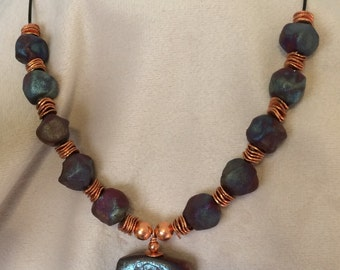 Raku and Copper Choker