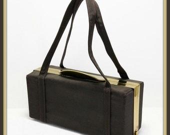 Vintage Ingber Box Purse, Vintage Box Purse, Vintage Ingber Handbag, Vintage Handbag, Vintage Ingber Evening Bag, Vintage Evening Bag