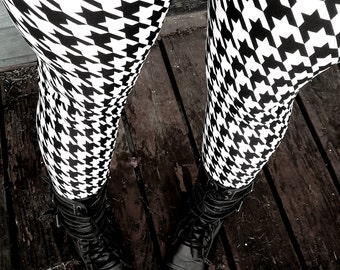 Houndstooth leggings   Etsy