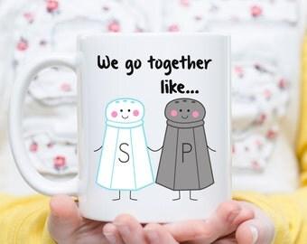 We Go Together Like Salt and Pepper, Salt and Pepper Gift, Couples, Love Gift, Boyfriend Mugs, Girlfriend Mugs, Wife Mugs, Husband Mugs