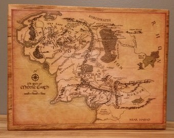 Lord of the Rings Middle Earth Map