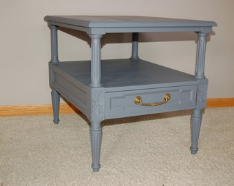 Hand Painted Vintage End Table