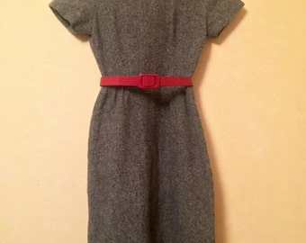 French wiggle dress 60s wool