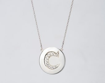 Pre-order Silver Initial Necklace by Christine K