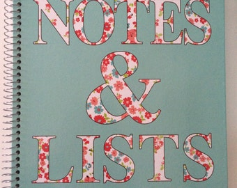 Ideas and Lists in Floral