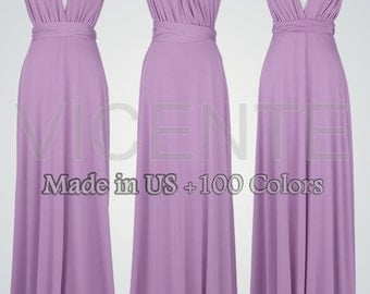 Long bridesmaid dresses Purple bridesmaid dress Maid of honor dress Wedding party dress Wrap dresses Rustic bridesmaid dresses