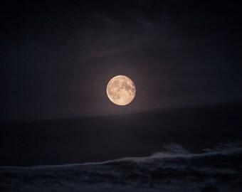 Moon - Moonlight - Moon Photo - Night - Sky - Sky Photo - Nature Posters - Photography - Digital Photo - Digital - Download - Home Decor
