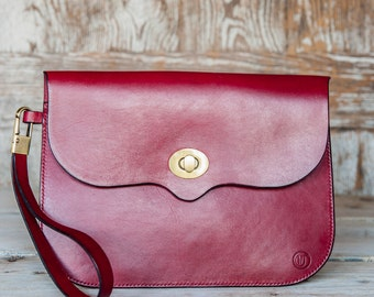 Large Clutch Bag in Maroon (Other Colours Available)