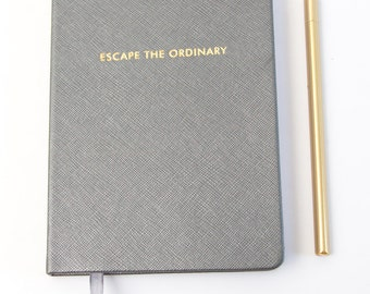 """Silver and Gold """"Escape the Ordinary"""" Journal 