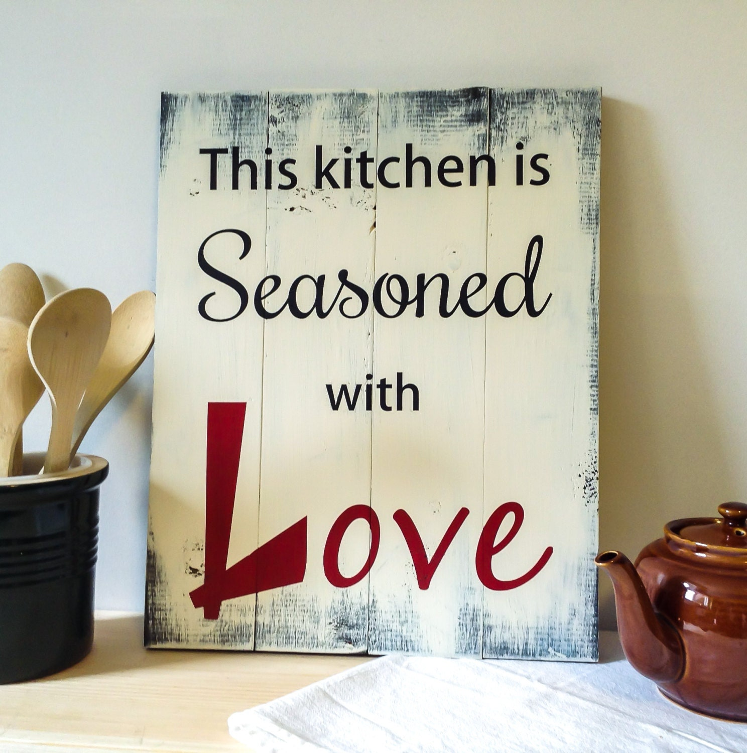 Download This Kitchen Is Seasoned with Love Seasoned with Love Sign