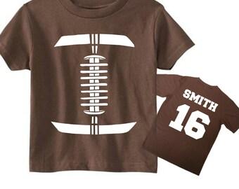 Toddler Football Shirt, Baby Boy Football Onesie, Toddler Boy Football Shirt, Custom Football Tshirts, Football Number Shirt For Kids