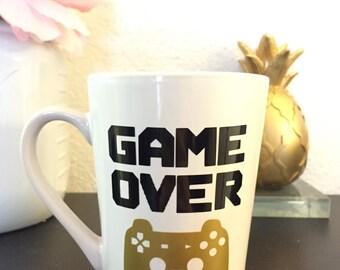 GAME OVER Coffee Mug by Rubi