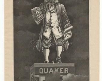 Quaker Man, Quaker Oats 1897 Full Page Ad