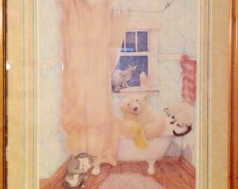 "Barbara Stone ""Bathtime Companions"" Artists Proof"