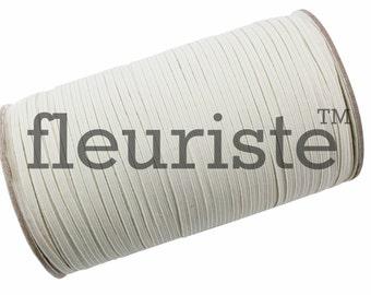 Skinny Elastic, Thin Elastic, 1/8 Elastic, Elastic By The Yard, Fold Over Elastic, Solid Elastic, Wholesale Elastic, Stretch Elastic, Ivory